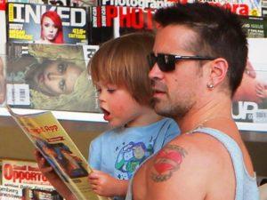 Colin Farrell  с сыном Henry